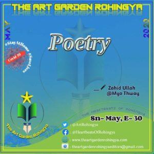 Poetry | A poem by Zahid Ullah