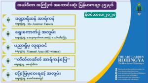 အယ်ဒီတာ အကြိုက် အကောင်းဆုံးမြန်မာ ကဗျာ (၅)ပုဒ် ၊နိုဝင်ဘာလ၊၂၀၂၀။