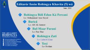 Editarór fosón Rohingya Khavita (5) wá