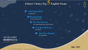 Editors' Choice Best 5 English Poems